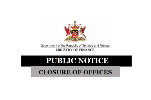 Website Highlight Featured Image: Public Notice; Closure of Offices